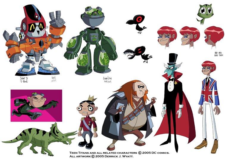 Teen Titan Character Toys : Derrick j wyatt